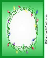 Tangled Holiday Lights - Frame