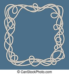 Tangled nautical ropes frame