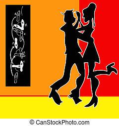 Tango Background - Tango Dance, cartoon style background