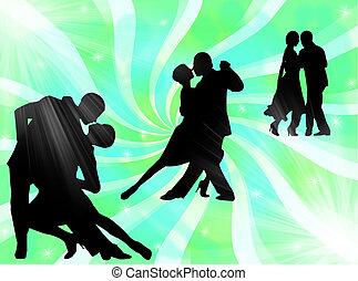 tango, bailando