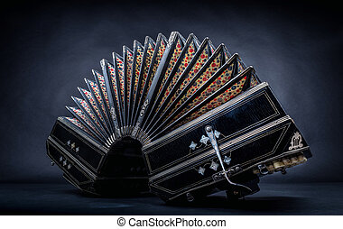 tango - close up of an bandoneon