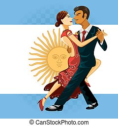 Tango Dance - Couple Performing an Argentines Tango Dance