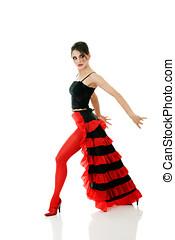 Tango dancer - Beautiful woman dancing tango
