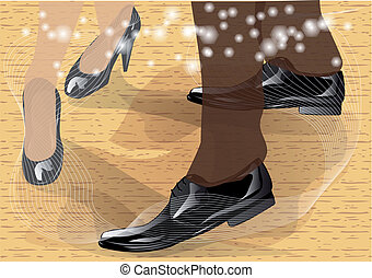 tango. dancers feet