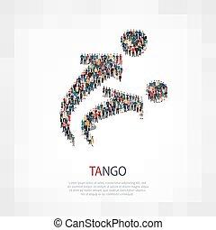 tango, folla, persone