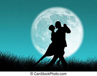 tango, księżyc