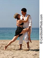 tango, praia
