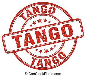 tango red grunge round vintage rubber stamp
