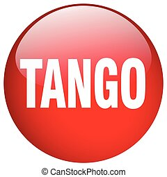 tango red round gel isolated push button
