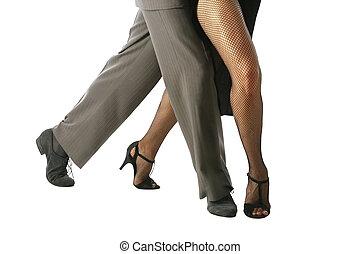 Tango - Young couple dancing Tango