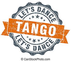 tango vintage orange seal isolated on white