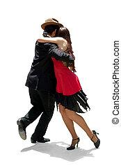 tango  - Young couple dancing Tango in the street