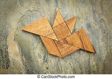 tangram bat abstract