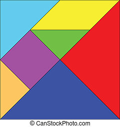 Tangram  illustration - vector