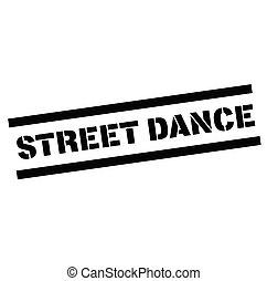 taniec, ścierka, ulica, tłoczyć