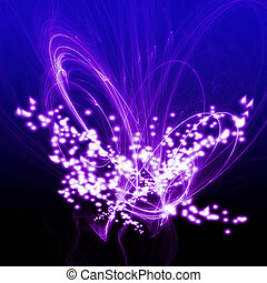 taniec, abstrakcyjny, budowy, tło, lekki purpurowy, biały