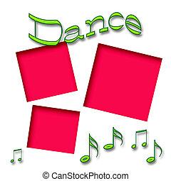 taniec, album na wycinki, ułożyć