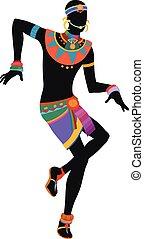 taniec, człowiek, etniczny, afrykanin