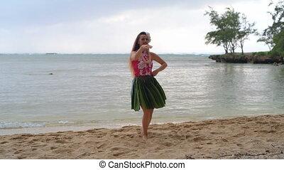 taniec, hawaje, kostium, tancerz, 4k, hula