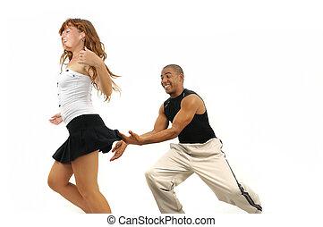 taniec, instruktor, latino