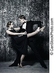 taniec, namiętny, miłość