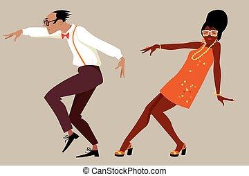 taniec, partia, retro