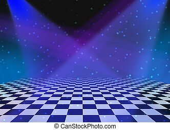 taniec, partia, tło, podłoga