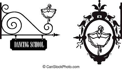 taniec szkoła, ulica, wskazówka
