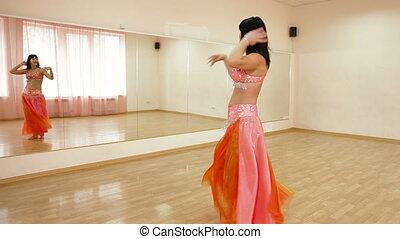 taniec, wykształcenie, klasy, dorosły, brzuch