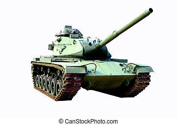 Tank 4 - A WW II tank on display