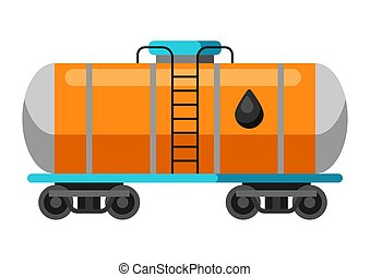 tank., aceite, carril, ilustración