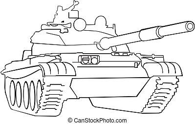 tank, armee