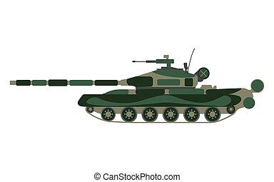 Tank cartoon. Military equipment icon. Vector illustration