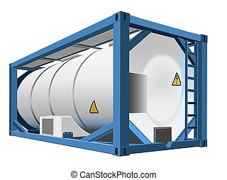Tank container isolated. The ability to easily change the color.