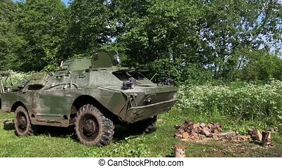 Tank dirty in forest
