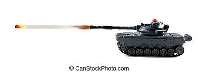 Tank  Fire Power. - Tank fire power with tank firing.