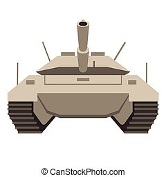 Tank flat illustration