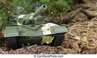 Tank front view camera motion, close to