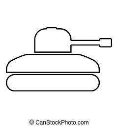 Tank icon black color illustration flat style simple image