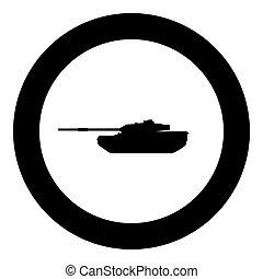 Tank icon black color in circle