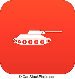 Tank icon digital red