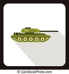 Tank icon, flat style