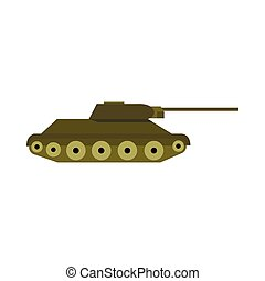 Tank icon in flat style