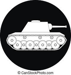 Tank icon on white background - vector illustration.