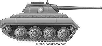 Illustration of a tank on a white background
