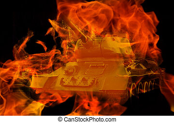 tank in the fire
