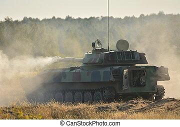 tank, -, militær