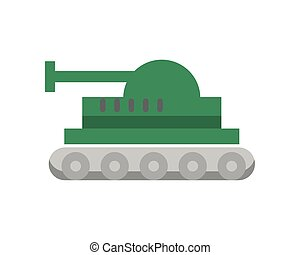 tank military force isolated icon