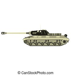 Tank military vector war icon army vehicle flat battle background element green