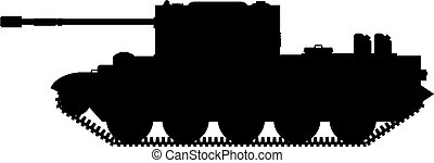 Tank Silhouette Side View